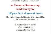 Europa Donna-nap Tápiószelén